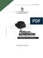 Componente de Ciencias Sociales Examen de Admision 2010-I Unal