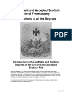 The Ancient and Accepted Scottish Rite of Freemasonry - Instructions to All the Degrees