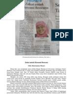 Zakat Untuk Ekonomi Bencana (Perspektif, Jawa Pos Radar Jember, 28 Januari 2014)