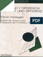 Martin Heidegger - Indentidad y Diferencia