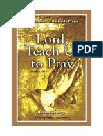Lord teach us