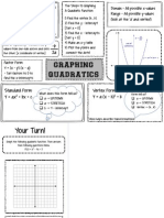 Quadratic Graphic Organizer
