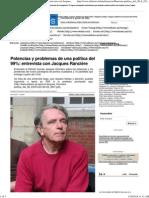 Potencias y problemas de una política del 99%_ entrevista con Jacques Rancière
