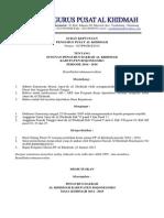 Surat Keputusan Pengurus Pusat