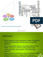 Field Research Methods and Ethnography 27-01-2014