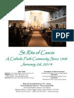 St. Rita Parish Bulletin 1/26/2014
