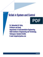 Scilab in Systems and Control