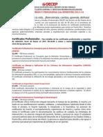 Oferta Academica Segundo Semestre 2013-14
