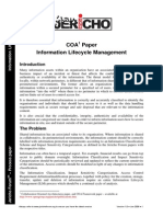 COA Information Lifecycle Management v1.0