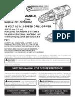 Ryobi P271 Owners Manual
