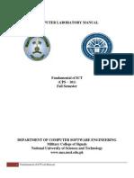 Fundamental of Ict Lab Manual 2013