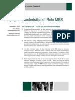 Prepayment of Relo MBS