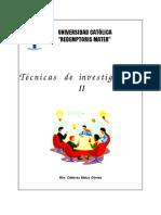 Tecnicas Investigacion II