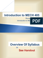 Lecture 1 - Introduction to MECH 405