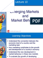 Lecture 10 Emerging Markets and Market Behaviour