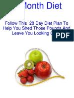 1 Month Diet Plan