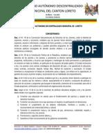 Ordenanza Que Crea y Regula La Oficina de La Juventud en El Gobierno Autonomo Descentralizado Municipal Del Cantn Loreto