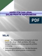 Aspek Etik Dan Legal Dalam Praktik Keperawatan