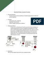 experiment design - a property of a spring - oscillation