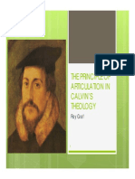 The Principle of Articulation in Calvin - Proposal