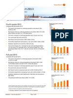 Swedbank's Year-End report 2013