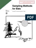 Sampling Methods for Bats
