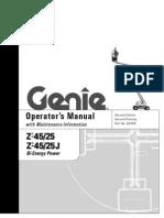 GENIE Z45 25 J Boom Lifts Manual