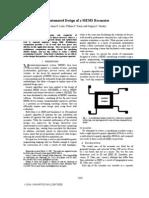 Automated Design of a MEMS Resonator - 2007