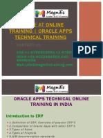 Oracle ATOnline TrainingOracle Apps Technical Training