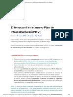 El Ferrocarril en El Nuevo Plan de Infraestructuras (PITVI) _ Geotren