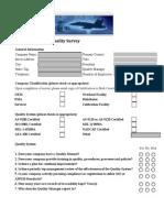 Airshunt Supplier Quality Survey