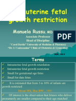 INTRAUTERINE FETAL GROWTH RESTRICTION
