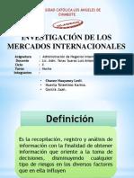 INVESTIGACIÓN DE MERCADO - NEGOCIOSINTERNACIONALES