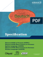 GCSE German Spec Issue 3 UG025113 090112