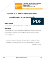 Creatividad y Sociedad. Gestion de La Innovacion Creativa