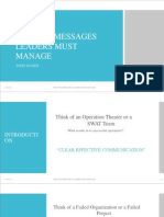 The Five Messages Leaders Must Manage
