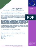 EEA3 form