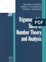 Trigonometric Sums in Number Theory and Analysis