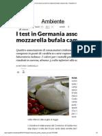 I Test in Germania Assolvono La Mozzarella Bufala Campana Dop - Repubblica