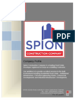 Spion Construction Profile 2013