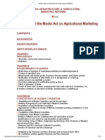 Salient Features of the Model Act on Agricultural Marketing