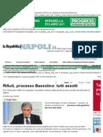 Rifiuti, Processo Bassolino_ Tutti Assolti - Napoli - Repubblica