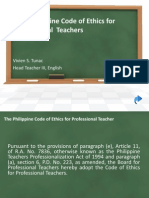 The Philippine Code of Ethics for Professional Teachers