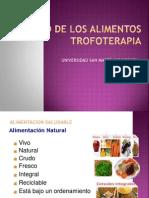 Calidad de Los Alimentos Trofoterapia Usmp 2014