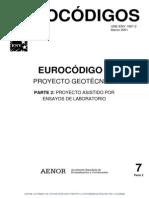 Eurocodigo 7 Pyto Geotecnico 1 (Ensayos Laboratorio) (2001)
