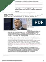 Bruselas denunciará a China ante la OMC por los aranceles sobre los tubos de acero _ Economía _ EL PAÍS