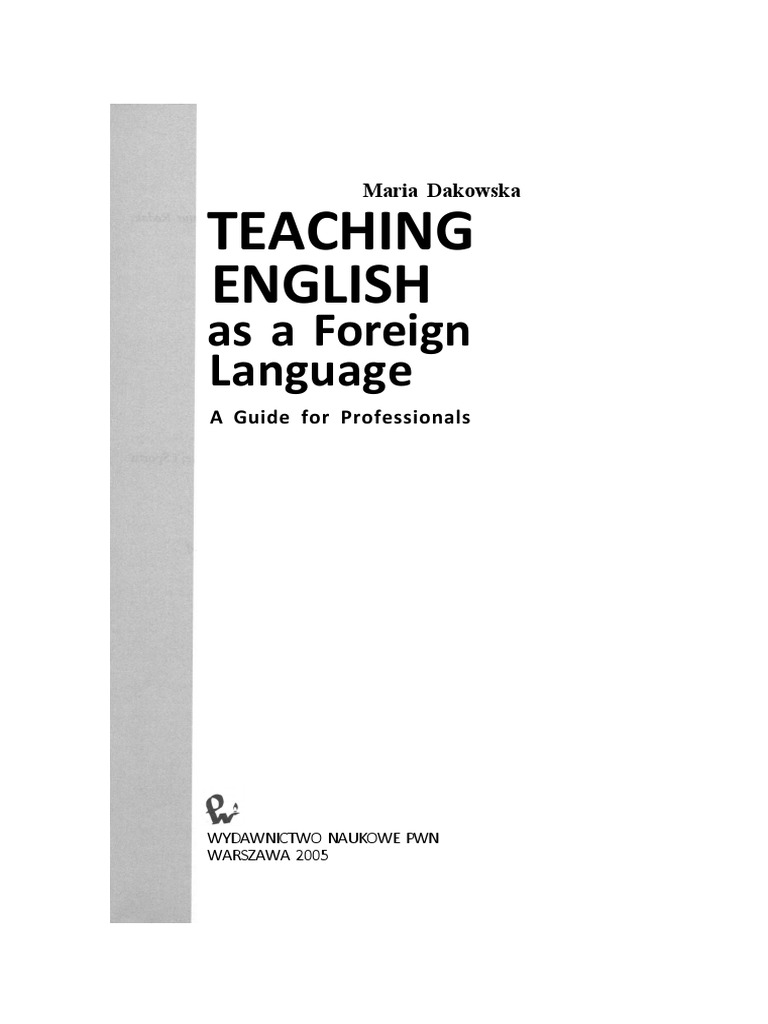 Dakowska maria teaching english as a foreign language a dakowska maria teaching english as a foreign language a professionals guidepdf language education foreign language fandeluxe Choice Image