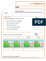 Grammar Worksheet Prepositions of Place Gwg Heros Adventure Final