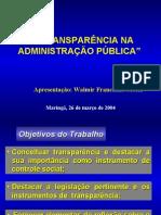 1- A TRANSPARÊNCIA NA ADMINISTRAÇÃO PÚBLICA