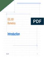 Biometrics Introduction